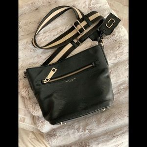 "Marc Jacobs Black Leather ""New York"" Crossbody Bag"